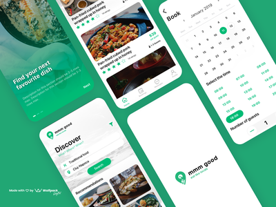 MmmGood - food & catering app restaurant catering food mobile ui mobile ux mobile app