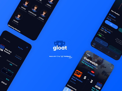 Gloat App - When e-sports meets the stock market betting stocks fintech darkui gaming esports
