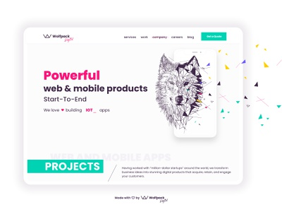 Wolfpack Digital Website Re-design - Creative Session No.2 responsive design illustration flat agency landing page agency website