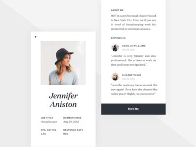 Profile Screen (Job Listing)