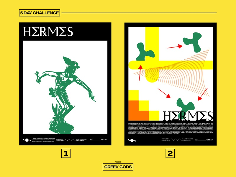 HERMES greek gods challenge illustration graphicdesign poster design poster art poster design