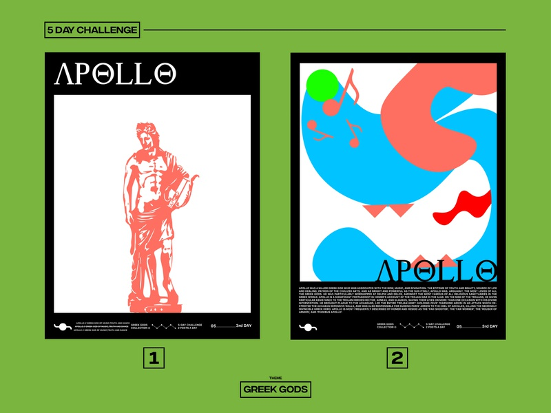 APOLLO illustration greek gods challenge graphicdesign poster design poster art poster design