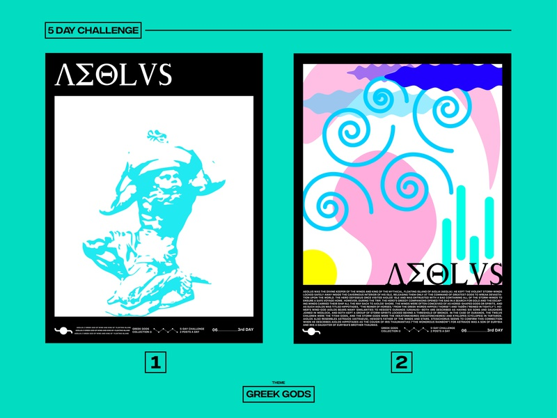 AEOLUS illustration greek gods challenge graphicdesign poster design poster art poster design