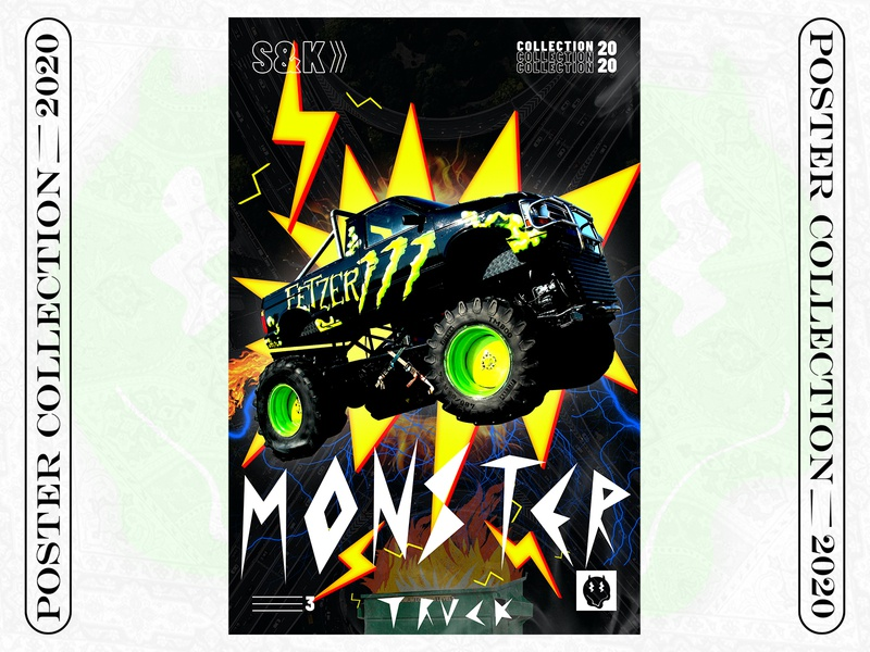 POSTER 3 ( C/20 ) beast truck monster collection challenge illustration graphicdesign poster design poster art poster design