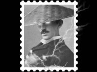 Postcard stamp 4 [ tesla ]