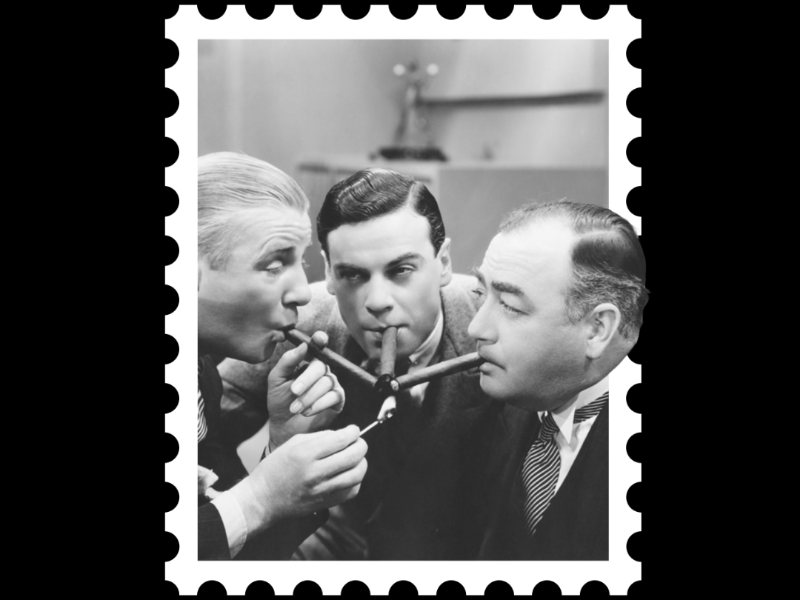 Postcard stamp 7 [ cigars ] stamp postcard design cigars graphicdesign