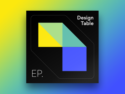 Design Table Sticker Cut Out gradient color cover podcast identity branding