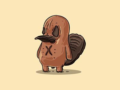 Platterpuss x outside ovaries nuts toy animal platypus procreate ipad pro illustration