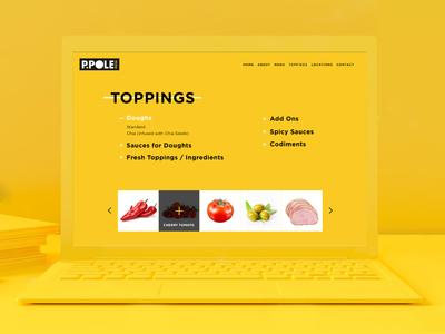 Webdesign for Pizzeria