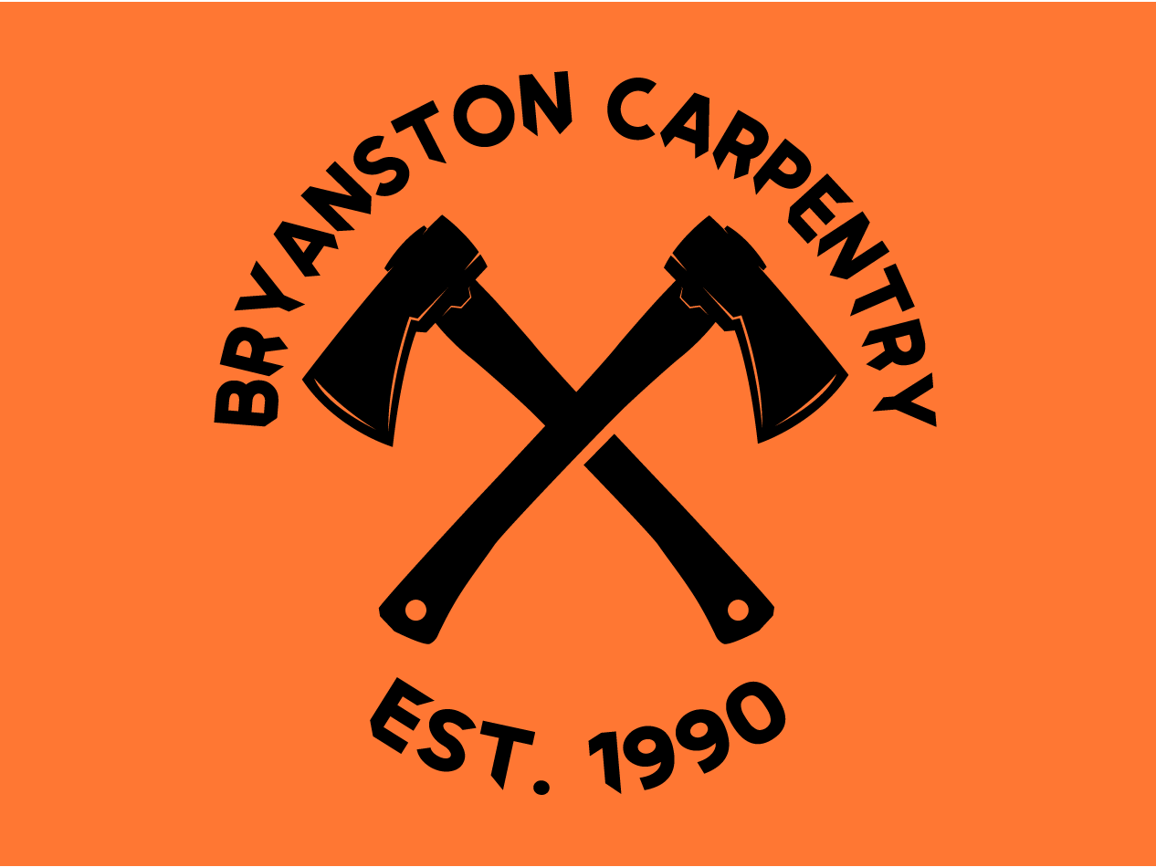 Bryanston Carpentry trees wood woodworking outdoors crafting seal logo axes carpentry