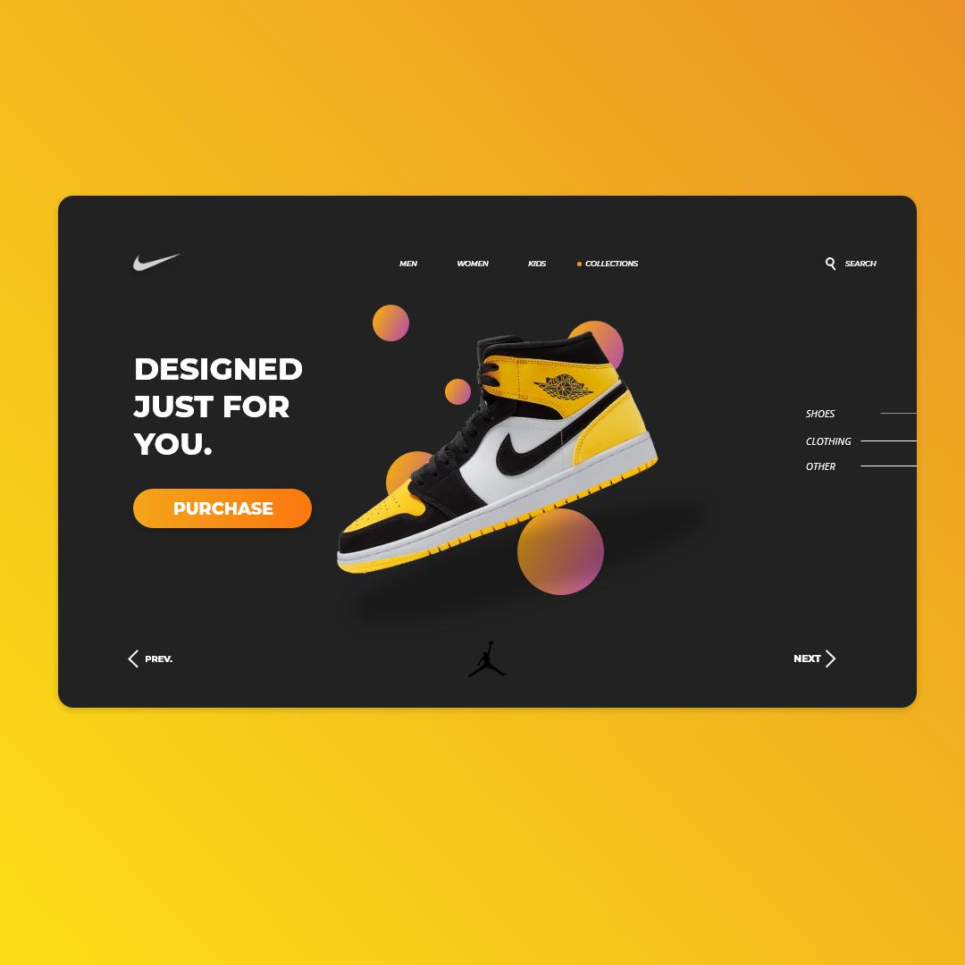 Hacia Complacer Odiseo  Nike Web Design by Çağdaş İlhan on Dribbble