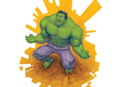 Doctober 01: Dr. Bruce Banner inktober2019 mindless destruction doctor marvel hulk comic painting art