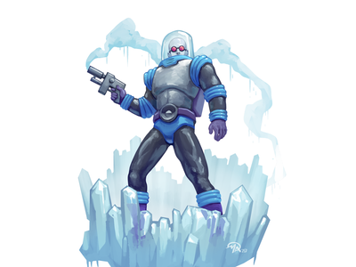 Doctober 04: Dr. Victor Fries (Freeze) batman dc comics comic cold freezer doctor inktober2019 fan art digital character digital painting design art illustration