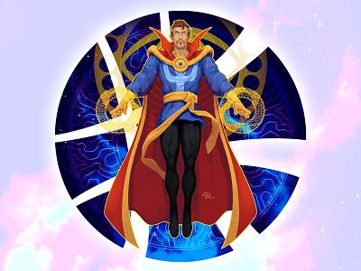 Doctober 07: Dr. Stephen Strange circle digital painting mystical enchanted marvel comics magic doctor strange doctor character illustration art