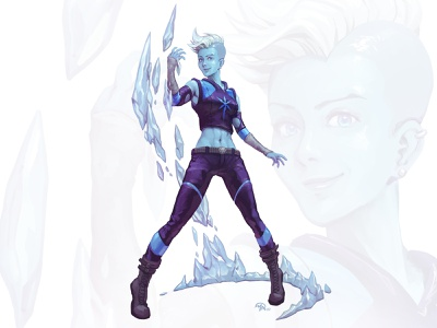 Doctober 11: Dr. Caitlin Snow doctor dc killer frost comics character digital painting illustration art