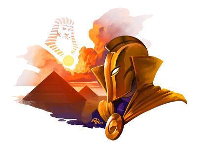 Doctober 23: Dr Fate comics fan art doctor digital painting character digital painting design art illustration