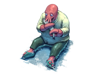 Doctober 25: Dr. Zoidberg crustacean eat water fish futurama zoidberg doctor digital painting character digital painting art illustration