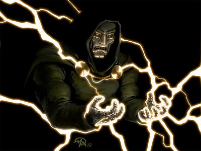 Doctober 26: Dr. Doom fantastic 4 doom marvel fan art comics doctor character digital painting design art illustration