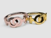 Linked Female-Female Wedding Band