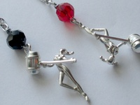 Custom Order: Harley Quinn Hanging Earrings