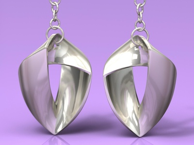 Another product rendering: Earrings