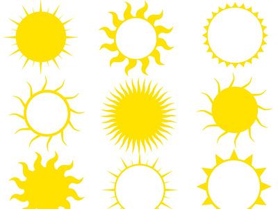 Yellow Sun Illustrations digital art celestial clipart illustration vector art svg svg icons clip art sunshine suns sun