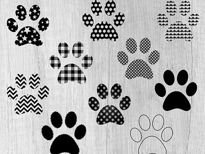 Paw Print Designs - Vector Art Patterns svg clipart digital art animal print patterns svg icons paws paw print vector art vectors