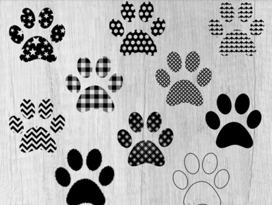 Paw Print Designs - Vector Art Patterns svg clipart digital art animal print patterns svg icons paws paw print vector art vectors