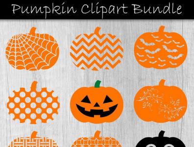 Halloween Pumpkins digital art clipart svg halloween party halloween design pumpkin halloween