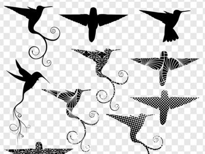 Hummingbird Silhouette Art pattern clipart silhoutte silhouettes hummingbird