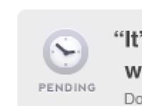Lil' Pending Clock