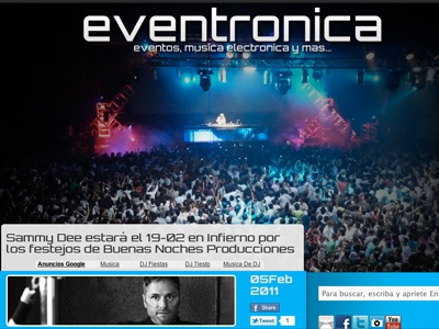 Eventronica.Com   Presentation Shot