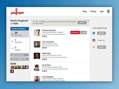 Squint test results layout ui clean design red blue app