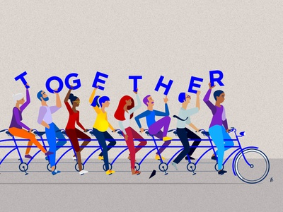 That's the spirit! maternal inclusive inclusion together diversity character creation charactedesign people anatomy vector design illustration supportive collaboration team team building
