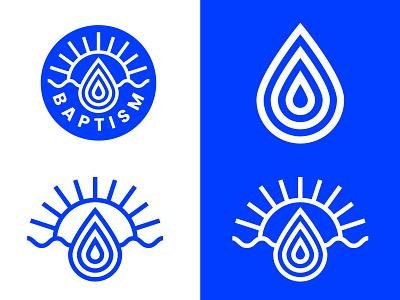 Baptism branding vector baptism royal blue design logo