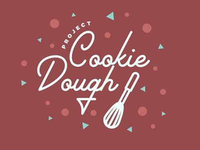 Cookie Dough illustration whisk logo project dough cookie