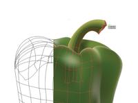 Bell Pepper Gradient Mesh
