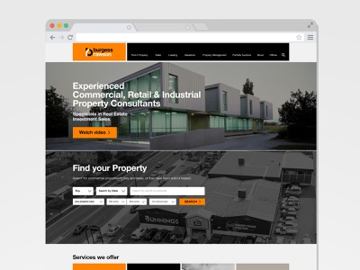 Burgess Rawson Website design digital ui web