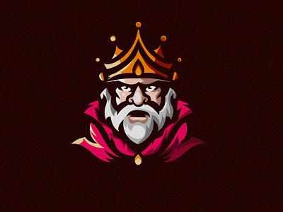 Amazing KING mascot logo king mascot cute character logodesign cartoon flat logo abstract vector illustration