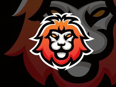 Lion face mascot logo mascotlogo king logodesign logo design vector abstract illustration