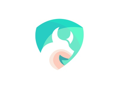 Abstract bull logo cute character branding cartoon logo logodesign design vector abstract illustration