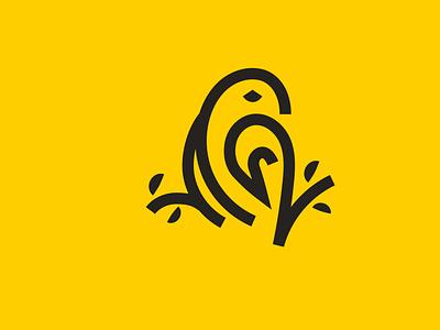 Line art Parrot cute character branding flat logo logodesign design vector abstract illustration