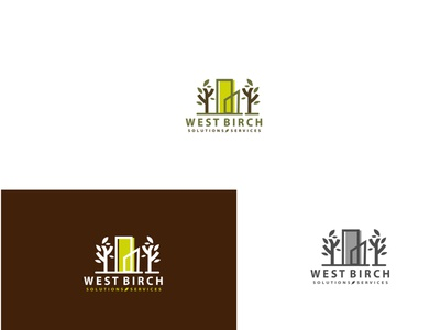 Nature city logo flat cute character logo logodesign design vector abstract illustration