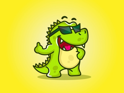 Crocodile illustration flat character cartoon logo logodesign design illustration vector abstract branding