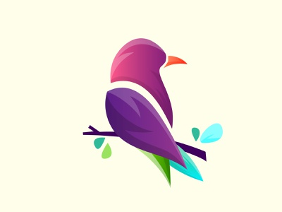 Amazing Bird logo vector bird abstract logo vector animal flat cute cartoon logodesign design illustration