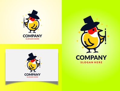 Cute magician logo