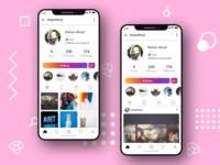 Instagram Profile UI