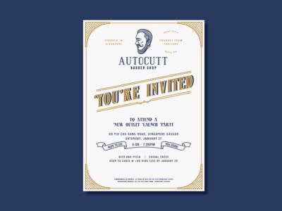 Autocutt Invitation Card