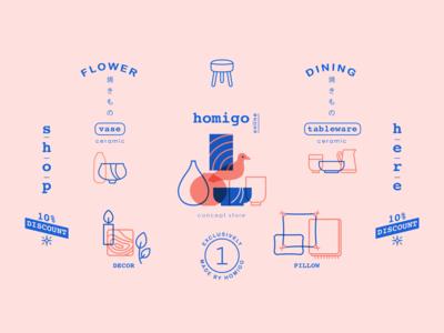 Homigo Concept Store Logo & Typography