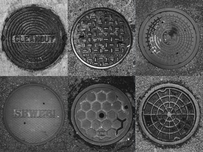 Drain Lid Photos, Vol. 1 lightroom photoshop inspiration urban art streetart geometric circle blackandwhite photographer urban photography
